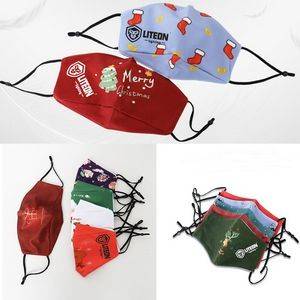 Christmas Reusable 3 Ply Face Mask With Adjustable Straps